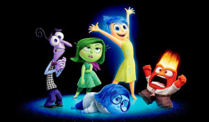Fear, Disgust, Sadness, Joy and Anger from Disney/Pixar's Inside Out.